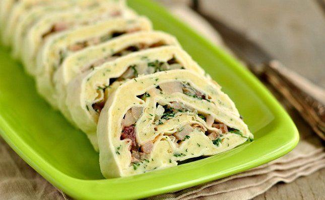 Лаваш с сельдью ролл закуска на пикник фото