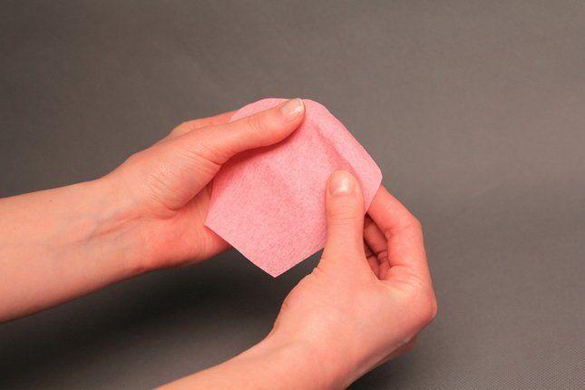 делаем лепесток тюльпана из бумаги