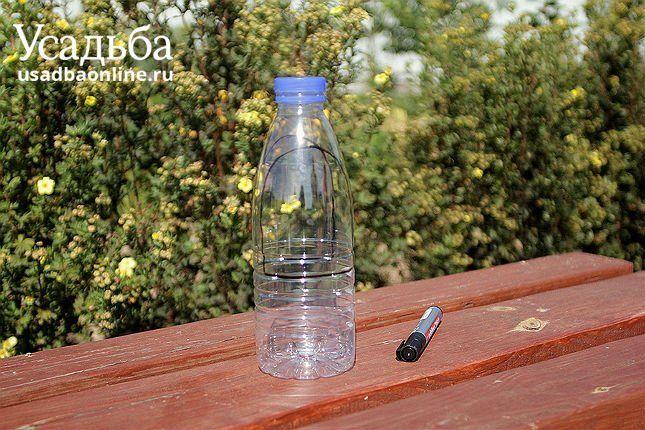 пластиковая бутылка, маркер
