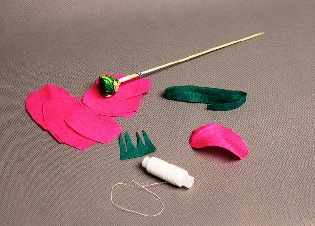 лепестки для роз из бумаги