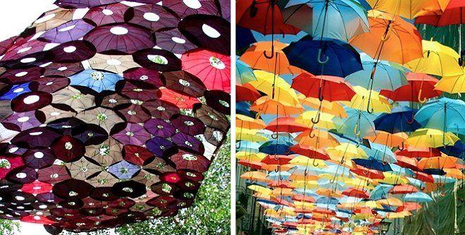 Навес из зонтиков