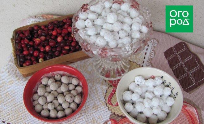 : три вида клюквы в сахаре