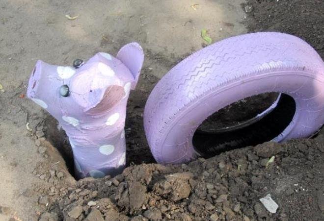 закопанная шина