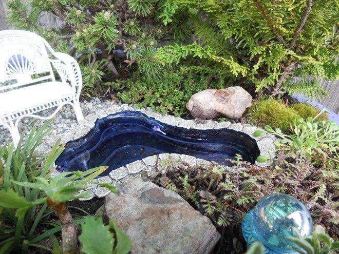Мини-пруды могут иметь самые необычные формы