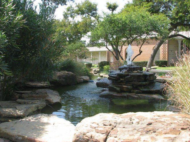Пруд для купания возле дома