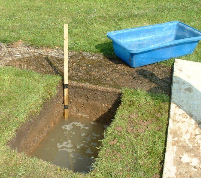 Уровень грунтовых вод может изменяться в течение года