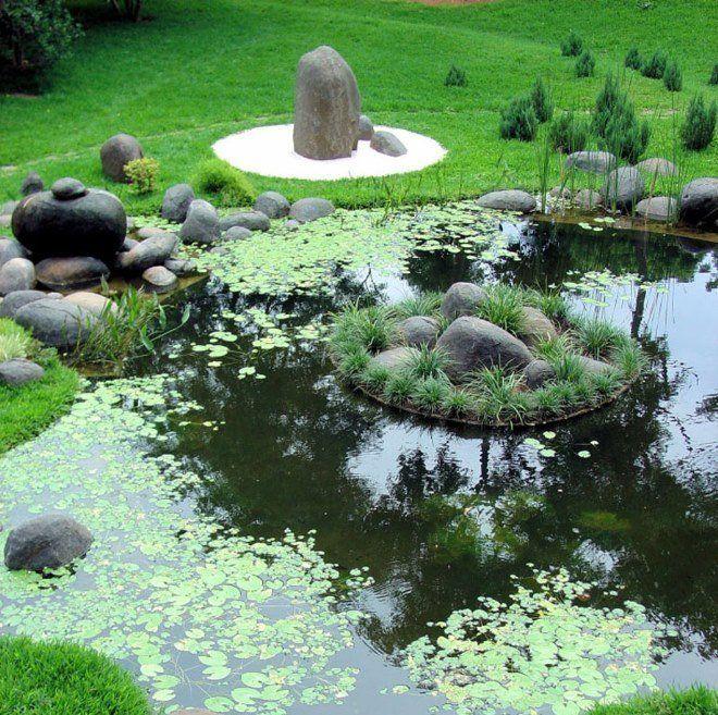 Плавающие острова - необычный и модный элемент садового дизайна