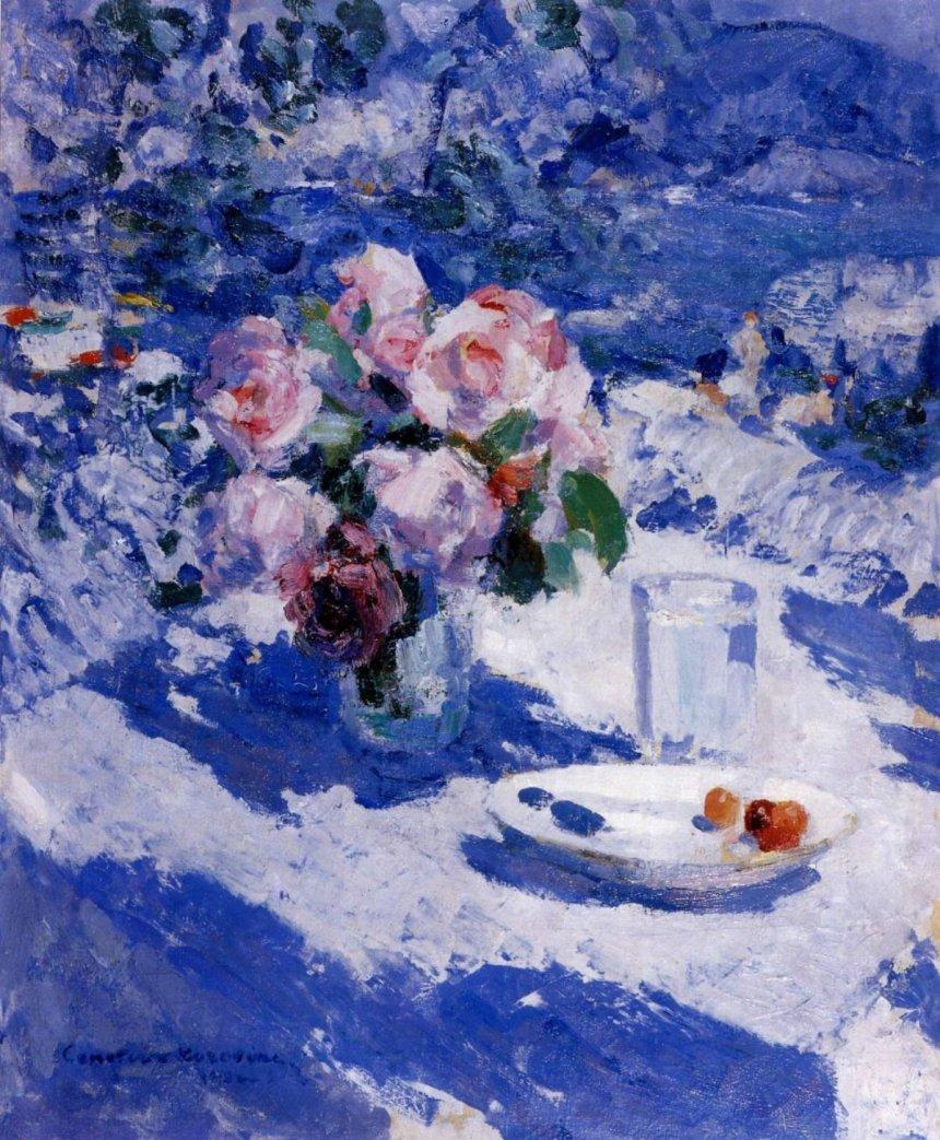 Розы на террасе. Крым. К. А. Коровин