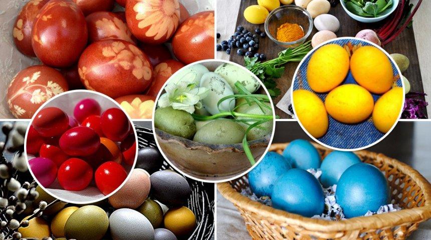 : Натуральные красители для пасхальных яиц