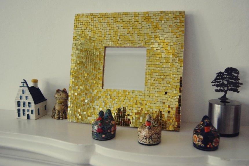 Мозаика на раме для зеркала