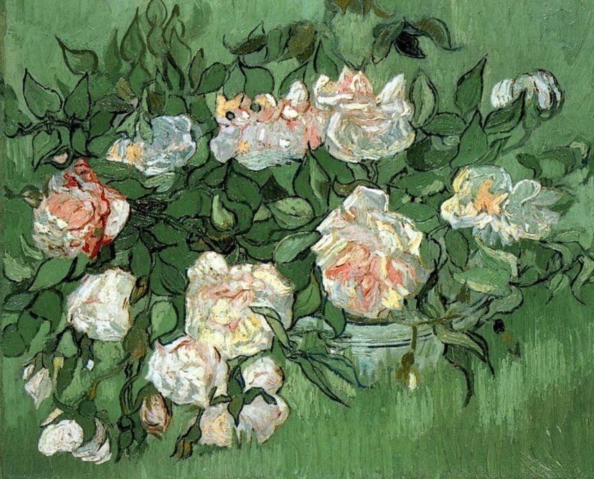 Розовые розы. В. Ван Гог