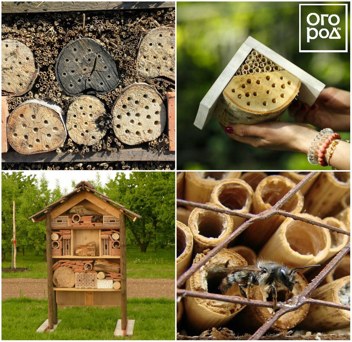Дом для полезных насекомых из веток деревьев