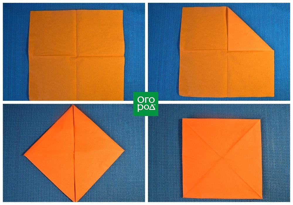 как сложить лотос из бумаги